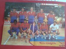 POSTER BALONCESTO LOS RECORDS DEL BASKET BALL FÚTBOL CLUB BARCELONA ESTUDIANTES