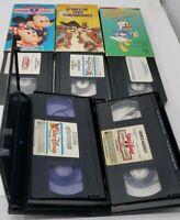 5-Walt Disney Cartoon Classics VHS Lot Mickey, Pluto, Minnie, Donald, Chip, Dale