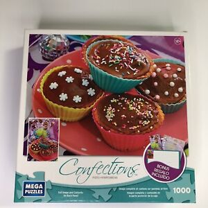 Confections Cupcakes Mega Brands Jigsaw Puzzle 1000 Piece Birthday Sweets