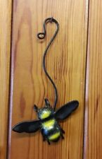 Cuffy's hanging Metal bee single pack garden decoration hand made in Devon gift