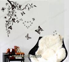 Vid Mariposas Flores Pegatinas De Pared Mural Vinilo Arte Calcomanía Pared Decoración Del Hogar