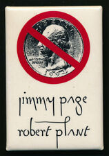 Jimmy Page Robert Plant _Rare Original 1994 No Quarter Tour Pinback Button Badge
