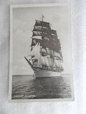 AK Schul Schiff Segler DEUTSCHLAND Fahne 1935 Segelschiff Anker Zweimaster