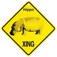 Hippo Crossing Xing Sign New Hipppopotamus