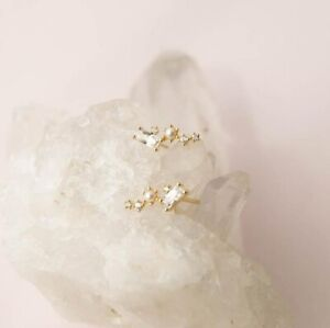 New Constellatio Natural Baroque Irregular Pearl Gold Plated Hook Stud Earrings