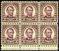 584, Mint VF/XF NH 3¢ Block of 6 Stamps CV $360.00 - Stuart Katz