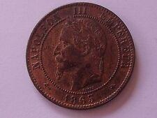 10 cts Napoleon III Tête nue 1863 A