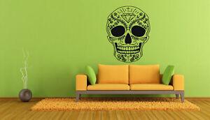 Wall Art Vinyl Room Sticker Decal Mural Skeleton Floral Scull Zombie Rock bo569