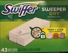 Swiffer Sweeper Dry Sweeping Refills 43 Cloths New ! ~ QUICK SHIPPING !