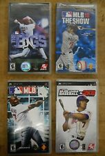 LOT 4 PSP GAMES MLB 10 THE SHOW; 989 SPORTS; MAJOR LEAGUE BASEBALL 2K8;THE BAGS