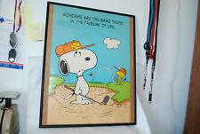 Snoopy Vintage Framed Poster 1958-1965 Original Frame Peanuts