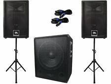 JBL JRX 212 2.1 Aktiv Subwoofer Anlage Stativ Boxen Band Musiker DJ NR44