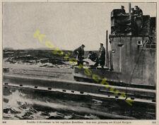 Claus Bergen U-Boot Seekarte Matrosen Feindfahrt Nordsee Kaiserliche Marine 1917