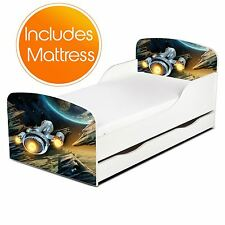 PRICERIGHTHOME SPACESHIP TODDLER BED WITH STORAGE & FULLY SPRUNG MATTRESS