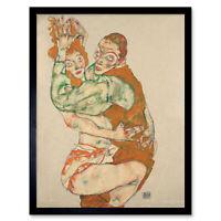 Egon Schiele Lovemaking Art Print Framed 12x16