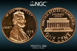 1975 S Proof Lincoln Memorial Cent Penny With DIY Snap Combined Shipping