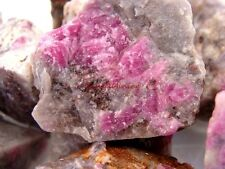 Natural CRYSTAL RUBY Rough - 3000 CARAT Lots - Corundum Ruby Gemstone Rough Rock