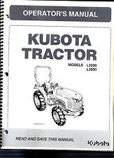 Kubota L3200 & L3800 Tractor Operator's Manual