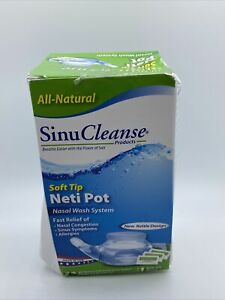 SinuCleanse Neti Pot Genie Style w/ 30 Pharmaceutical Grade Packets 05/25