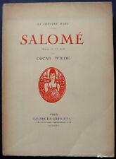 Salomé - Oscar Wilde - Le Théâtre d'Art - Editions Georges Crès et Cie