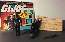 Vintage 1984 Gi Joe *Baroness W/ File Card Lot Of 2 **Free Shipping**