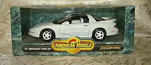 ERTL American Muscle 25th ANNIVERSARY TRANS AM White 1:18 scale New in Box