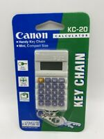NEW VINTAGE CANON KC-20 CALCULATOR KEY CHAIN WORKS GREAT MINI COMPACT SIZE
