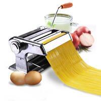 "150mm 6"" Pasta Maker & Roller Machine Noodle Spaghetti Maker Dual-Blade Silver"