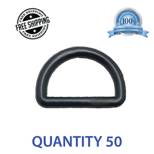 """50 pcs 1"""" Centering DEE D Ring DRing - Black Plastic - Shipped from USA"""