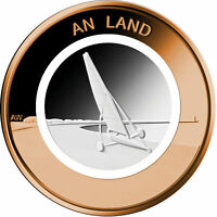 Deutschland 10 Euro 2020 An Land Strandsegler Luft bewegt Münze mit Polymerring