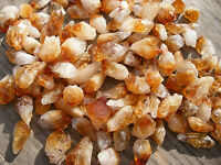 10 - A GRADE GOLDEN CITRINE TINY POINTS BRAZIL 12mm - 16mm GIFT BAG & ID  CARD