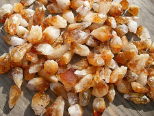 15 - A GRADE GOLDEN CITRINE TINY POINTS BRAZIL 12mm - 16mm GIFT BAG & ID  CARD