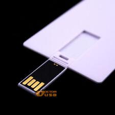 128MB 2.0 Small Storage Credit Card USB Flash Drive Memory Flash Pen Stick Blank