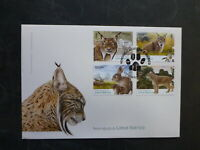 PORTUGAL 2015 LYNX SET 4 STAMPS FDC FIRST DAY COVER