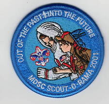 "Activity Patch MDSC Scout-O-Rama 2001 ""Out of the Past Into the Future"" 700245"