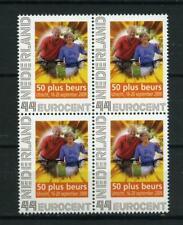 Nederland Beurspostzegel 2563-C-4 50 plus beurs Utrecht blok v 4 cat waarde € 12