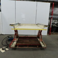 Pneumatic Air Over Hydraulic 2000lb Low Profile Ground 0 36 Scissor Lift Table