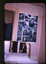 1965 35mm Photo slide Home interior  JFK LBJ poster  John F. Kennedy