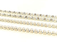 Sew or Glue on Diamante Chain With Pearl Design for Art & Crafts 1M UK