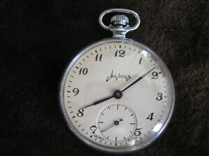 Vintage Mechanical Pocket Watch MOLNIA 15 jewels made in USSR