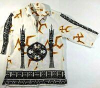 Hoaloha Mens Shirt Small Med Hawaiian Barkcloth Pullover Tiki Vintage 40s 50s