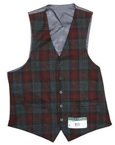Ralph Lauren Hagman Tartan Plaid Wool Blend 4-Button Men's Formal Vest NWT