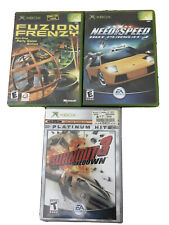 Lot of 3 XBOX 360 Games~Burnout 3 Takedown~Fuzion Frenzy~Need for Speed Hot 2