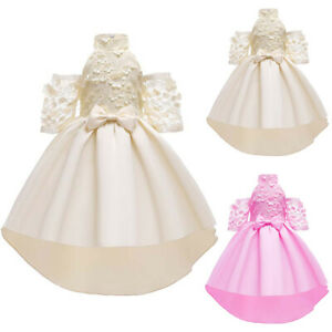 Kids Flower Girls Wedding Birthday Party Princess Formal Ball Gowns Tutu Dresses