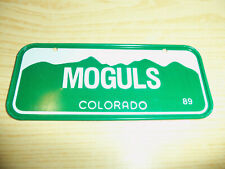 1989 Post Cereals - COLORADO MOGULS - Bicycle License Plate - EMBOSSED