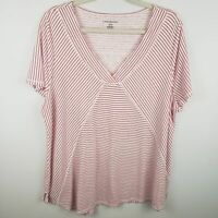 Lane Bryant Linen Blend Striped Tee PLUS Size 18/20