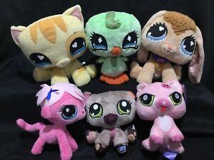 Littlest Pet Shop Cat Bunny Pony Bear Bird Soft Plush Toys Bundle