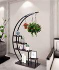 GOOD LIFE 5 Tier Metal Plant Stand Creative Half Moon Shape Ladder Flower Pot St