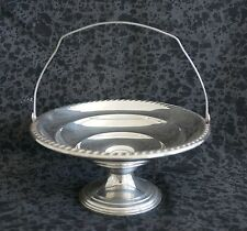 LA PIERRE Sterling Silver Footed Compote / Candy Dish with Hinged Handle
