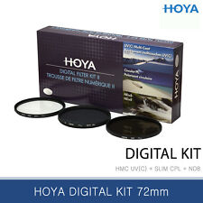 Hoya Digital Kit 72mm HMC UV / Slim CPL / Neutral Density 8 Filter / NEW